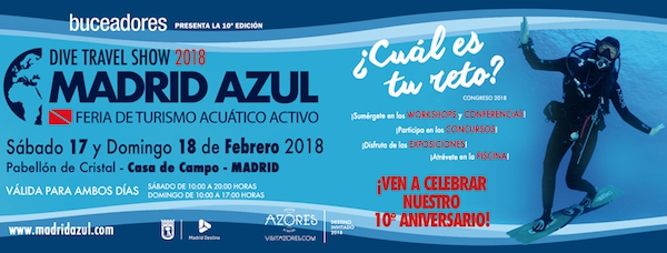 Dive Travel Show 2018, Madrid Azul